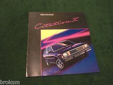 1985 CHEVROLET CHEVY CITATION II 16 PAGE SALES BROCHURE MINT ORIGINAL (BOX 556)