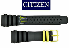 Citizen 24mm AQUALAND Original DIVERS Rubber Watch Band BLACK Strap CQ-1063-50