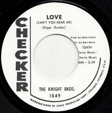 KNIGHT BROS./LITTLE MAC 45 RE-LOVE/I NEED LOVE -CHECKER TOP '63 MONSTER SOUL HIT