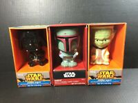 Star Wars Ceramic Goblet Figural Shaped Mug LOT DARTH VADER BOBA FETT YODA NIB