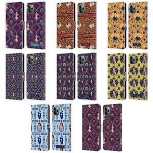 FRIDA KAHLO PORTRAITS AND PATTERNS LEATHER BOOK WALLET CASE FOR APPLE iPHONE