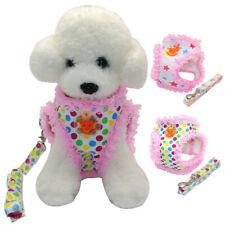 Mesh Padded Pomeranian Small Dog Harness & Leash Set Spring Walking Harness Vest
