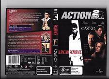 Action 2 DVD pack, Pacino in Scarface, De Niro & Pesci in Scorsese's Casino