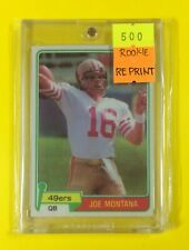 NFL Rookie Card - Joe Montana 1981 Topps with Free Magnetic Case