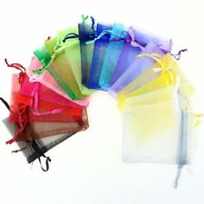 100pc 4X5inch Mixed Colors Jewelry Gift Candy Organza Pouch Wrap Bags