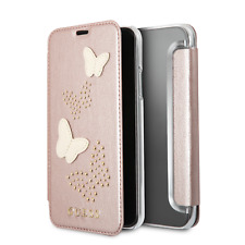 Genuine Guess Studs & Sparkle Book Case with Card Slots for iPhone X