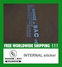Alpina France GARAGE du BAC INTERNAL Sticker decal Alte intern Aufkleber