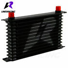 Lr Universal 13 Row An-10an Universal Engine Transmission Oil Cooler Blue