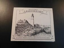 Boxed Historic Lighthouses 15 Notecards & Envelopes Ink Drawings Michael Brown