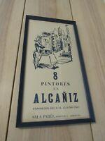 Alcaniz Poster Barcelona 1968 Color Lithograph Exhibition Sala Pares Framed