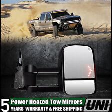 For 2003-2007 Silverado Sierra Black Power Heated Tow Mirror+Arrow Led Signal