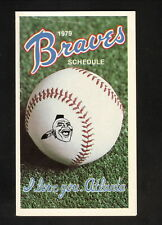 Atlanta Braves--1979 Pocket Schedule--Hubbard
