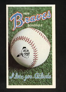 Atlanta Braves--1979 Pocket Schedule--Hubbard