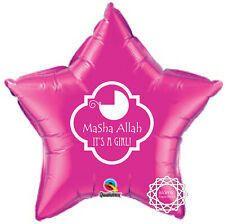 NWBGIRL New Baby Foil Balloon Pink