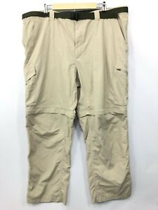 Columbia Men's Nylon Omni-Shade Convertible Zip-Off Outdoor Pants 44 W X 30 L