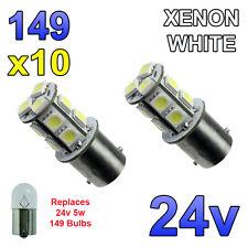 10 X Bianco 24V LED BA15S 149 R5W 13 SMD TARGA INTERNI LAMPADINE Mezzi Pesanti Camion