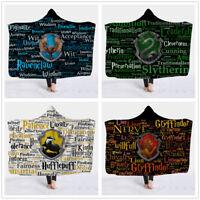 Harry Potter Vitral Com Capuz Cobertor 45x60; 60x80