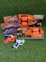 2 x Nerf Flipfury Blaster Guns + 24 Genuine Nerf Foam Darts Bullets