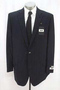 NEW $429 navy blue JOSEPH ABBOUD hopsack wool blazer jacket sport suit coat 46 L