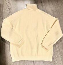 Vintage Thane Ivory Knit Sweater Acrylic Turtleneck Womens Large