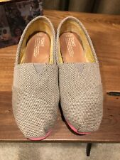 Womens Classic Toms Grey Farrin Pop Pink Size 8.5