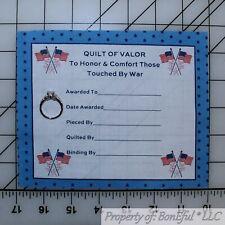 New listing BonEful Fabric Cotton Quilt Vtg American Flag Star Applique Block Valor Military