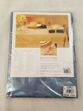 "Reflections Microfiber Round 70"" Table Linen Cloth Polyester Filene's  2937 Blue"