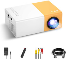 More details for mini projector, pvo portable projector for cartoon, kids gift, outdoor movie led