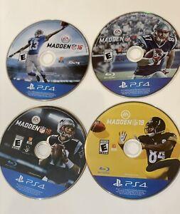 Madden 16, 17, 18, 19(Sony PlayStation 4) PS4 NFL Football