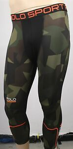 Polo Sport Ralph Lauren Camouflage Compression Running Tights NWT $90