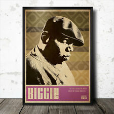 Biggie Smalls Hip Hop Art Poster Rap Music Tupac Shakur Gangster NWA Nas