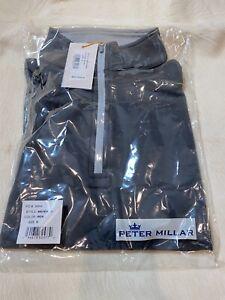 NEW Peter Millar Crown Sport 1/4 Zip S Stretch Pullover Men's