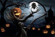 Pumpkin Man Halloween FRIDGE MAGNET (2 x 3 inches)(AA)