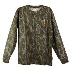 Browning 3017821902 Wasatch Mens MD Mossy Oak Bottomland Camo Hunting T-Shirt