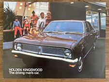 1970 Holden Kingswood original Australian sales brochure