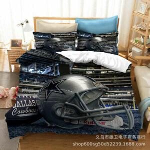 Dallas Cowboys Bedding Set 3PCS Duvet Cover Pillowcases Comforter Cover US Size