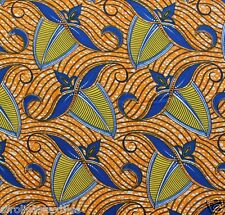 African Wax Print Ankara Fabric Superior Quality Bright Colors per Yard