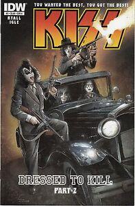 KISS #2-5 -IDW COMICS- VARIOUS COVER A'S & b'S - 2013