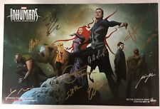 2017 SDCC MARVEL INHUMANS CAST SIGNED EXCLUSIVE POSTER 11 SIGNATURES ~BLACK BOLT
