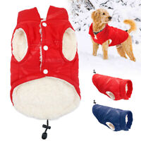 Warm Pet Winter Clothes for Small Medium Dogs Jacket Fleece Vest Coat Chihuahua