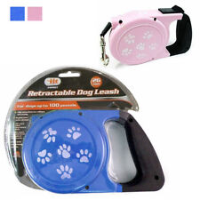 26Ft Auto Retractable Dog Leash Stop Lock Small Medium Big Pet Up To 66lb Train