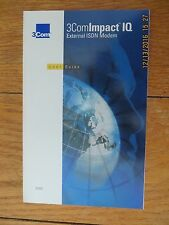 USER GUIDE & DISKETTES ONLY for the 3com Impact IQ External ISDN Modem