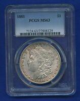 1881 P PCGS MS63 Morgan Dollar $1 US Mint Silver Better Date 1881-P PCGS MS63