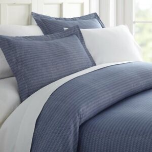 THE TWILLERY Jacksonville Duvet Cover Set Twin / Twin XL Navy Blue NEW NIP