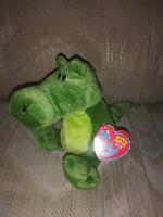 "TY Beanie Babies 2.0 Chompy Green Alligator Crocodile Plush NWT 2008 8"" Wide 7"""