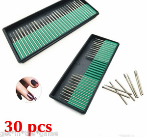 30 Nail Art Electric Drill Bits Replacement Manicure Pedicure Files Kit Set Tool