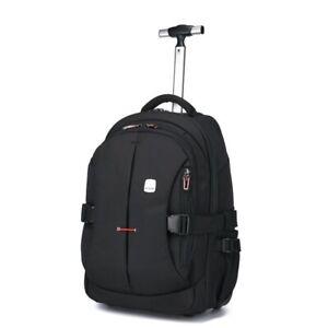Men Travel Trolley Rolling Wheeled Backpacks Business Hard Suitcase On Wheels