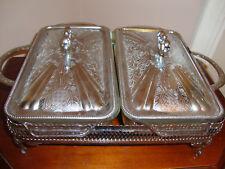 service table, plat double sur support et couvercle, légumier louis XV