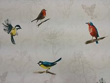 Clarke and Clarke Titchwell Birds Designer Curtain Upholstery Craft Fabric