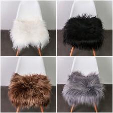 sheepskin Chair Cover Seat Pad White , Black ,Grey, Brown long ,soft wool